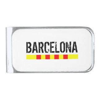 Barcelona Silver Finish Money Clip