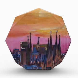 Barcelona Skyline and Torre Agbar, Sagrada Familia Acrylic Award