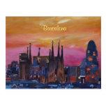 Barcelona Skyline and Torre Agbar, Sagrada Familia Postcard
