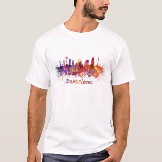 Barcelona skyline in watercolor T-Shirt