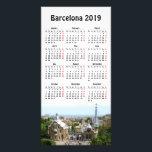 """Barcelona, Spain 2019 calendar Card<br><div class=""""desc"""">Park Guell,  Barcelona,  Spain. Customizable photocard with image and 2019 calendar</div>"""