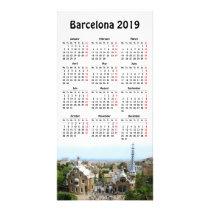 Barcelona, Spain 2019 calendar Card