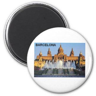 Barcelona Spain 2 Inch Round Magnet