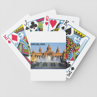 Barcelona Spain Bicycle Playing Cards