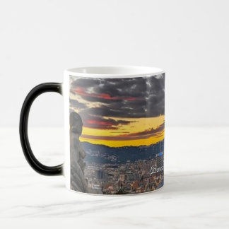 Barcelona Spain - Black/White 11 oz Morphing Mug