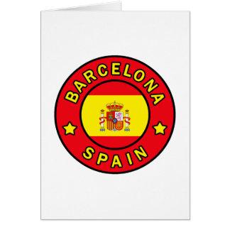 Barcelona Spain Card