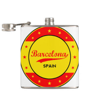 Barcelona, Spain, circle with flag colors Flask