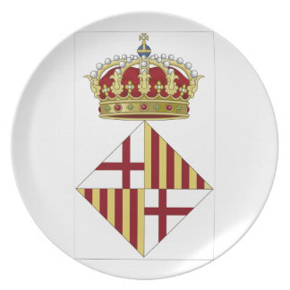 Barcelona (Spain) Coat of Arms Dinner Plates