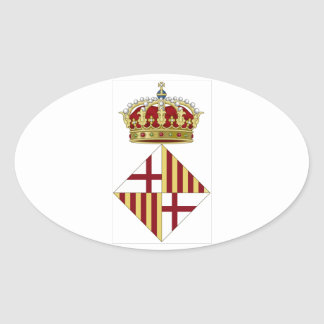Barcelona Spain Coat of Arms Oval Sticker