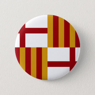Barcelona (Spain) Flag Pinback Button