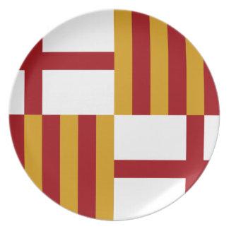 Barcelona (Spain) Flag Party Plates