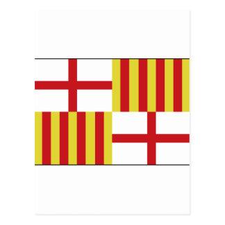 Barcelona, Spain Flag Postcard