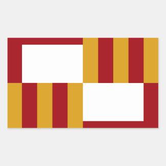 Barcelona Spain Flag Rectangle Sticker