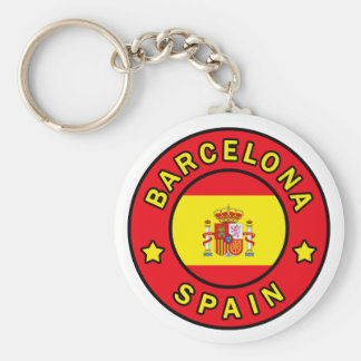 Barcelona Spain keychain