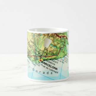 Barcelona, Spain Map Coffee Mug