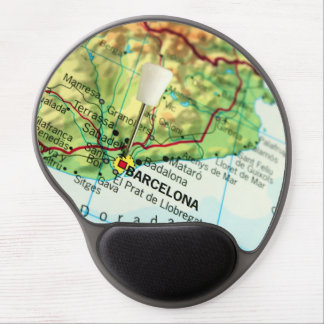 Barcelona, Spain Map Gel Mouse Pad