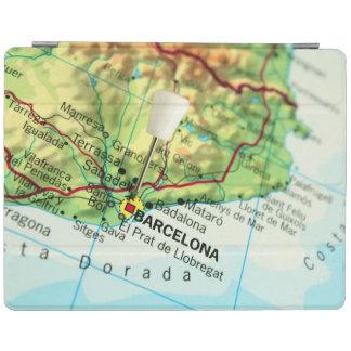 Barcelona, Spain Map iPad Cover
