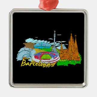 Barcelona - Spain Metal Ornament