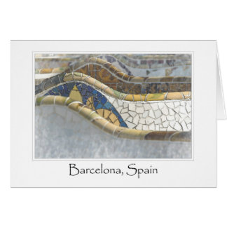 Barcelona Spain Parc Guell Tourist Destination Greeting Card