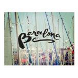 Barcelona Spain Port Europe Wanderlust Tarjetas Postales