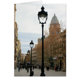 Barcelona, Spain - Portal del Angel Greeting Card