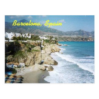 Barcelona, Spain postcard