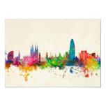 Barcelona Spain Skyline Card