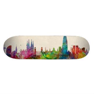 Barcelona Spain Skyline Skateboard Deck