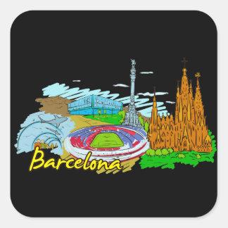 Barcelona - Spain Square Stickers