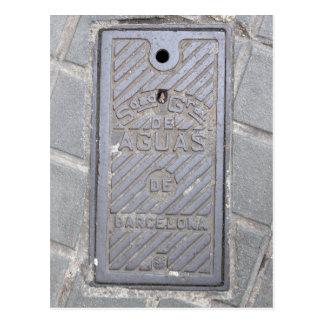 Barcelona, Spain Utility Cover Postcard