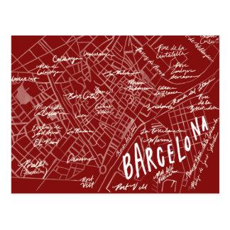 Barcelona Spain Vintage Travel New Postcard