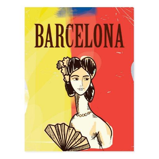 Barcelona spain vintage travel poster postcard zazzle - Mobles vintage barcelona ...