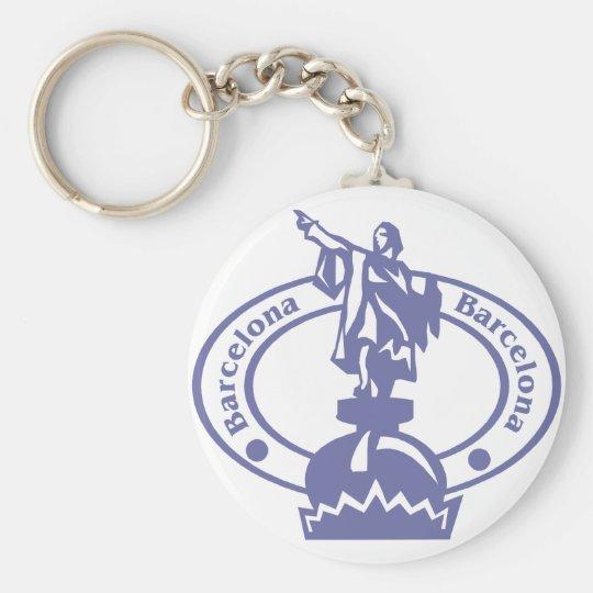 Barcelona Stamp Keychain