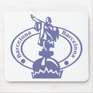 Barcelona Stamp Mouse Pad