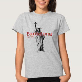 Barcelona & Statue of Liberty mstake T-shirt