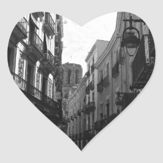 Barcelona Street Heart Sticker