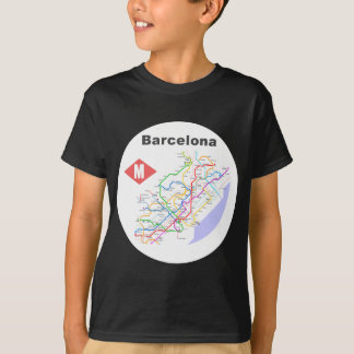 Barcelona Subway Map Shirts