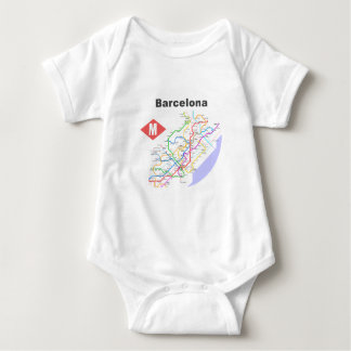 Barcelona Subway Map Shirts