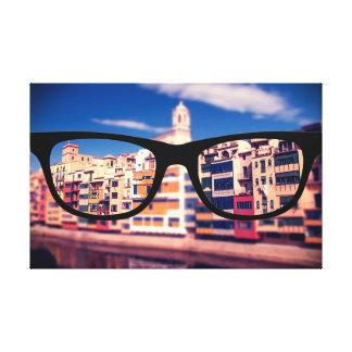 Barcelona through Sapio glasses Canvas Print