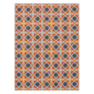 Barcelona tile red octagonal pattern tablecloth