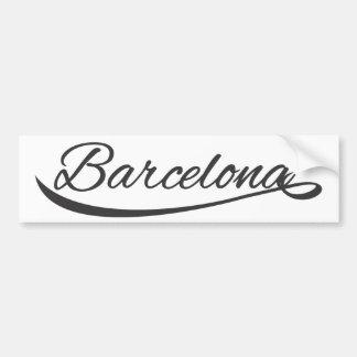 barcelona typographical bumper sticker