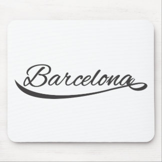 barcelona typographical mouse pads