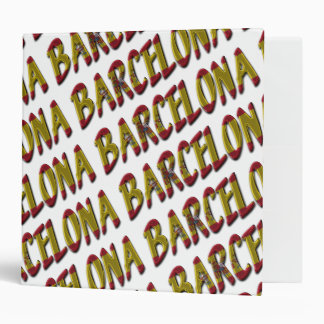 Barcelona Typography Spanish Flag Colors Spain Binder