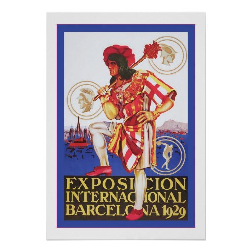 Barcelona vintage spanish exposition poster zazzle - Mobles vintage barcelona ...