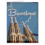 Barcelona Vintage Travel poster Card