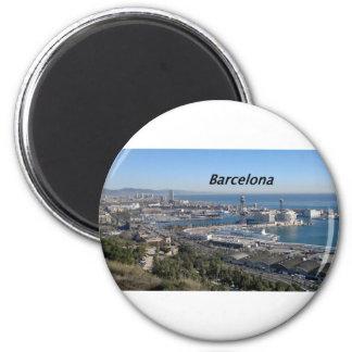 Barcelona--visión aérea--[kan.k] .JPG Imán De Frigorifico