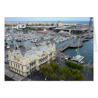Barcelona. Visión desde el monumento de Columbus Tarjeton