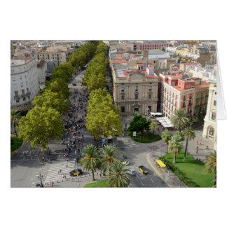 Barcelona. Visión desde el monumento de Columbus Felicitacion