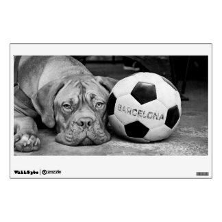 Barcelona's soccer club fanatic dog. wall sticker