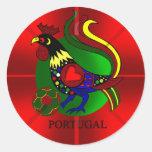 Barcelos Futebol - Por Tugas de Portugal Pegatina Redonda